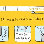 ぺんてるの新製品、0.2mmシャープペンシル「オレンズ」。